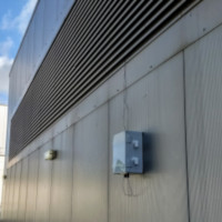 Side of a building with Eltek equipment in situ